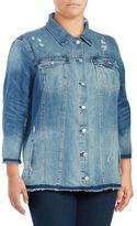 Jessica Simpson Plus Embroidered Denim Jacket