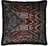 Dransfield and Ross Velvet Oriental-Carpet Pillow-PURPLE