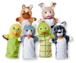 Melissa & Doug 6-Piece Pet Buddies Hand Puppets