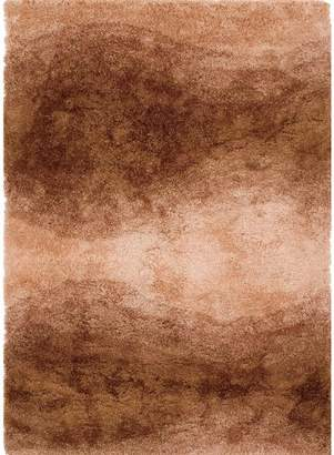 Camilla And Marc Un Amour De Tapis 14064 Scaro Acrylic Pile Shaggy Rug in Beige/Brown, brown, 140 x 200 cm