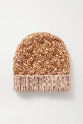 Chloé Cable-knit Melange Wool-blend Beanie