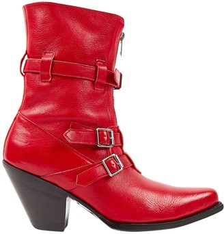Celine \N Red Leather Boots