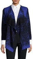 Kasper Suits Three-Quarter Sleeve Open Cardigan