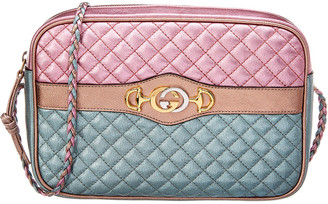 Gucci Small Laminated Leather Shoulder Bag