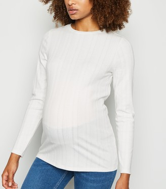New Look Maternity Ribbed Long Sleeve Top