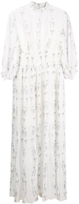 AllSaints Tree-Print Pleated Dress