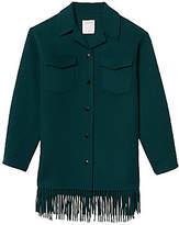 Sandro Women's Fringe Wool-Blend Coat