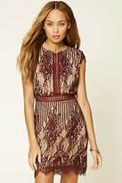 Forever 21 FOREVER 21+ Floral Lace Cutout Mini Dress