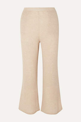 BEIGE Skin - Melinda Ribbed Wool-blend Pants
