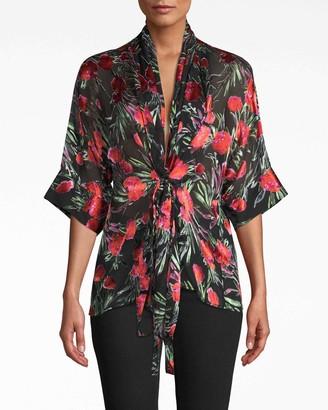 Nicole Miller Spring Garden Kimono Blouse