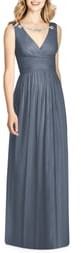 Jenny Packham Crystal Applique Chiffon A-Line Gown