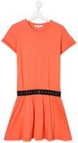 Givenchy Kids TEEN logo band T-shirt dress