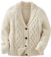 Osh Kosh Girls 4-8 Sparkle Cable-Knit Shawl Collar Cardigan
