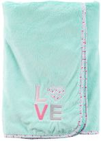 """Carter's Baby Girl 30 x 40 Embroidered """"LOVE"""" Plush Blanket"""