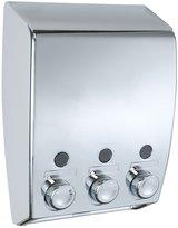 Wenko Soap Dispenser Varese 3-Chamber, Chrome by