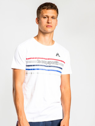 Le Coq Sportif Axel Short Sleeve T-Shirt in White