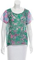 Gryphon Silk Floral Print Top