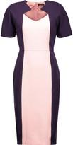 Raoul Adriana two-tone twill dress