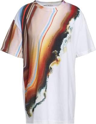 Acne Studios Printed Cotton-blend Jersey T-shirt