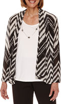 Alfred Dunner Theatre District Zigzag Herring 2Fer Layered Top