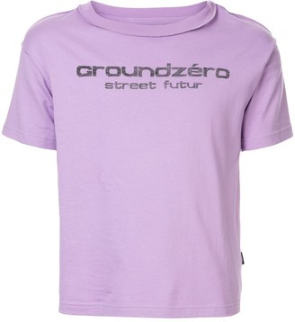 Ground Zero logo print T-shirt