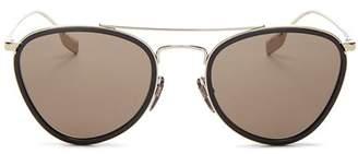 Burberry Women's Brow Bar Aviator Sunglasses, 51mm
