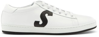 Paul Smith Hassler Logo-applique Leather Trainers - White Black