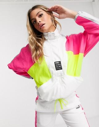 Puma TFS retro track jacket in white