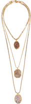 Rosantica Gold-tone Agate Necklace