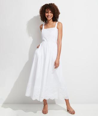 Vineyard Vines Palm Beach Lately Smocked Eyelet Maxi Dress