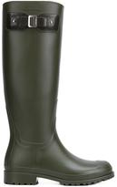 Saint Laurent Festival Rubber Rain Boots - Khaki