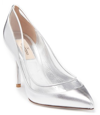 Valentino Metallic Leather Pointed Toe Pump