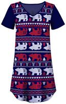Red & Navy Bear Nightgown - Women & Plus