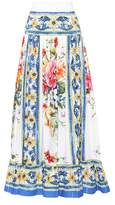 Dolce & Gabbana Printed cotton maxi skirt