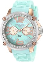 Mulco Women's MW2-28050S-099 Crystal-Accented Stainless Steel Watch with Silicone Band