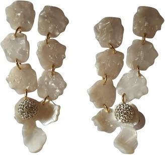 Lele Sadoughi White Crystal Earrings