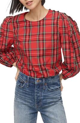 J.Crew Button Shoulder Puff Sleeve Blouse