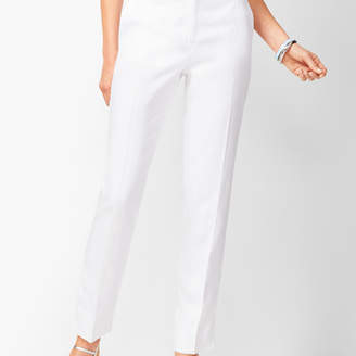 Talbots Linen Slim Ankle Pants - Lined White