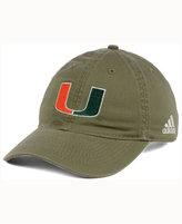 adidas Miami Hurricanes Shadow Slouch Adjustable Cap