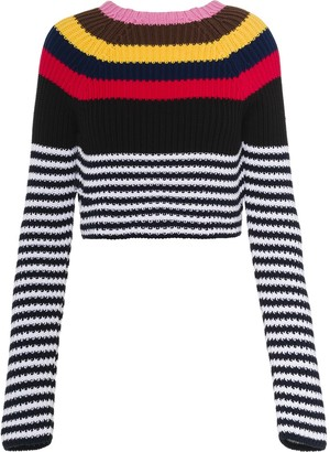 Miu Miu Striped Knitted Jumper
