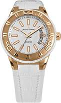 Jacques Lemans Miami Women White Leather Strap Watch 1-1771H