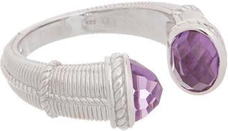 Judith Ripka Little Luxuries Silver 2.00 Ct. Tw. Amethyst Ring