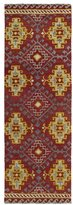 Leon Hand-tufted de Tibal Red Rug (2'6 x 8')