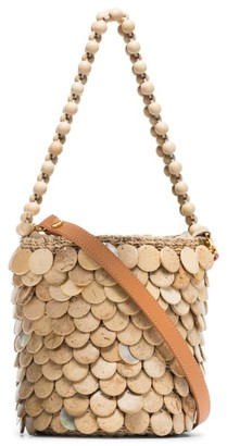 Aranaz mini Fishscale bucket bag