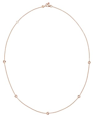 Roberto Coin 18K Rose Gold Diamond by the Inch Station Necklace, 18