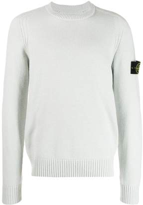 Stone Island logo slim-fit sweater
