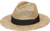 San Diego Hat Company San Diego Hat Co. Men's Seagrass Panama Fedora Hat and Cloth Band