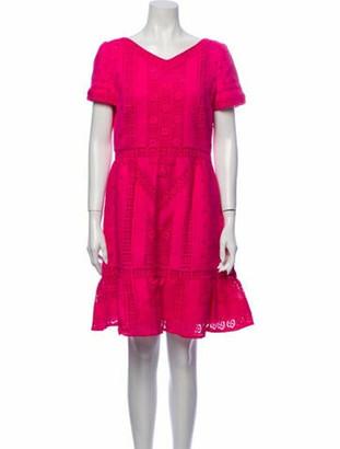 Valentino V-Neck Mini Dress Pink