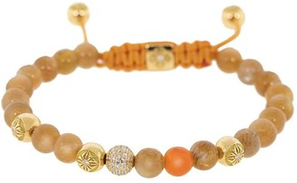 Shamballa Jewels 18kt Yellow Gold Diamond Bead Bracelet