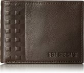 Ben Sherman Men's Holland Park Full Grain Cowhide Leather Six Pocket Wallet with Rfid